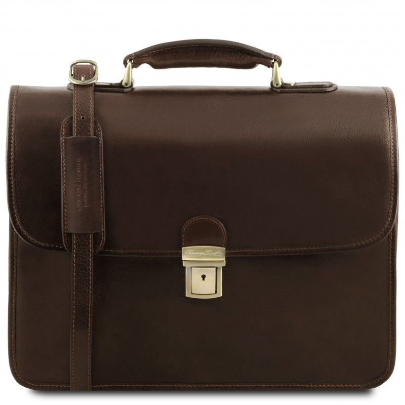 974ec2cd72b Tuscany Leather - Modena - Leather briefcase 2 compartments Brown -  TL141134/1 | Briefcase | Briefcase, Leather briefcase, Leather