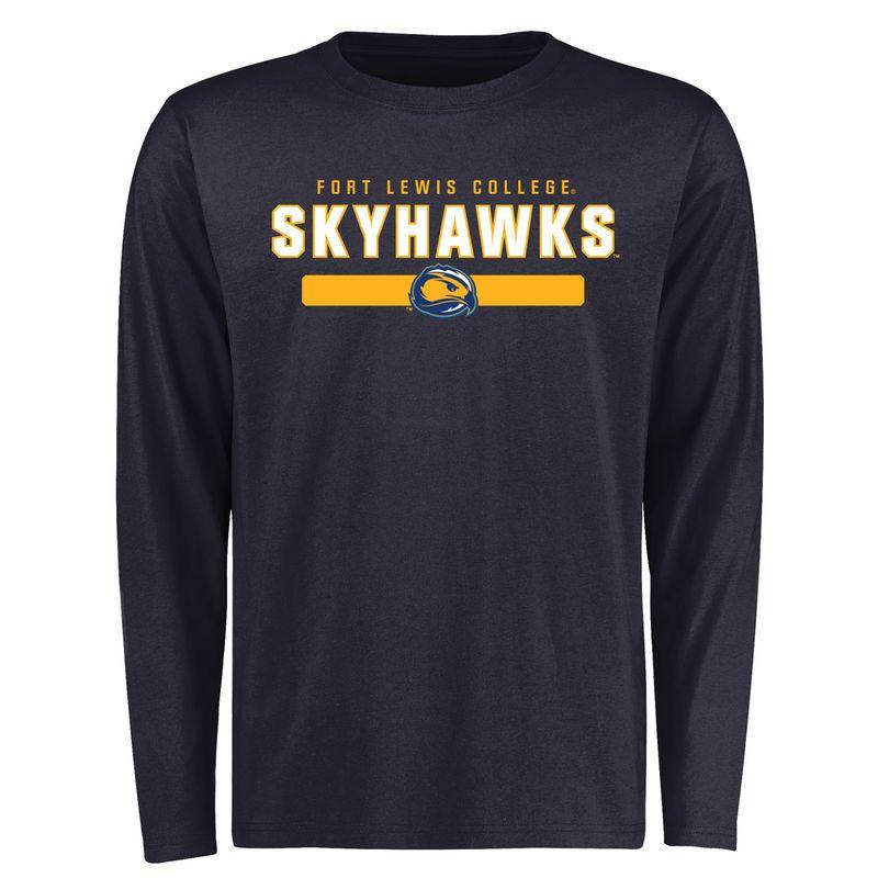 official photos 9fcbe aecc3 Fort Lewis College Skyhawks Team Strong Long Sleeve T-Shirt ...