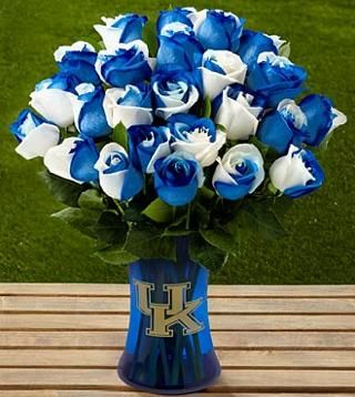 The FTD® University of Kentucky® Wildcats® Rose Bouquet - 24 Stems - VASE INCLUDED.....wow! If you cant afford these then smaller ones are available!