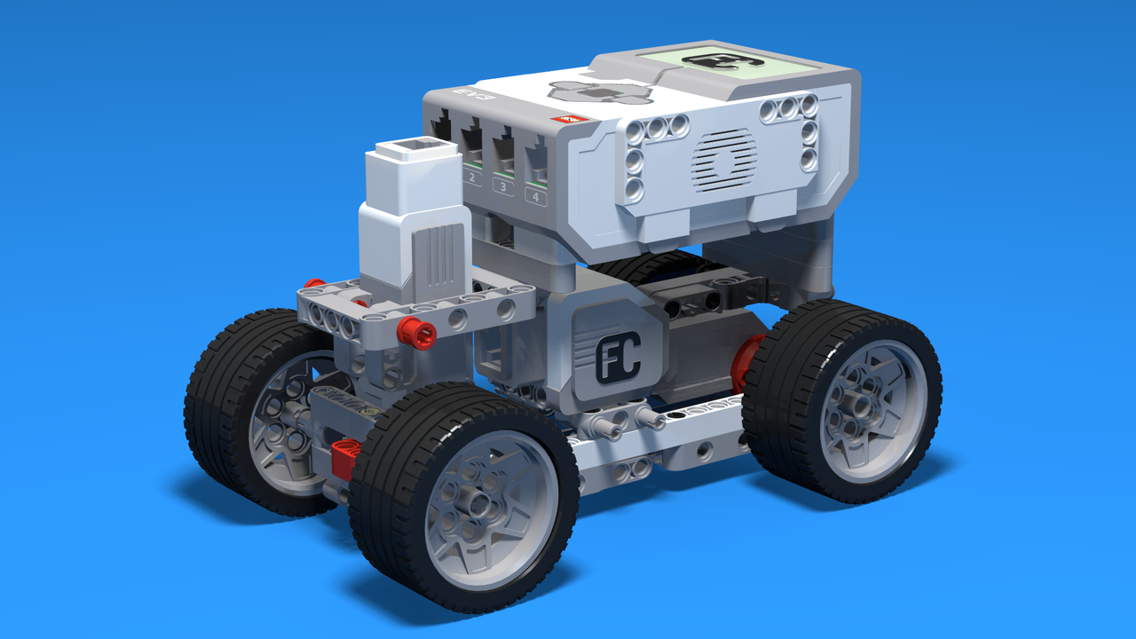 Fllcasts Small Boomer Lego Mindstorms Car With Two Wheel Drive Lego Mindstorms Lego Car
