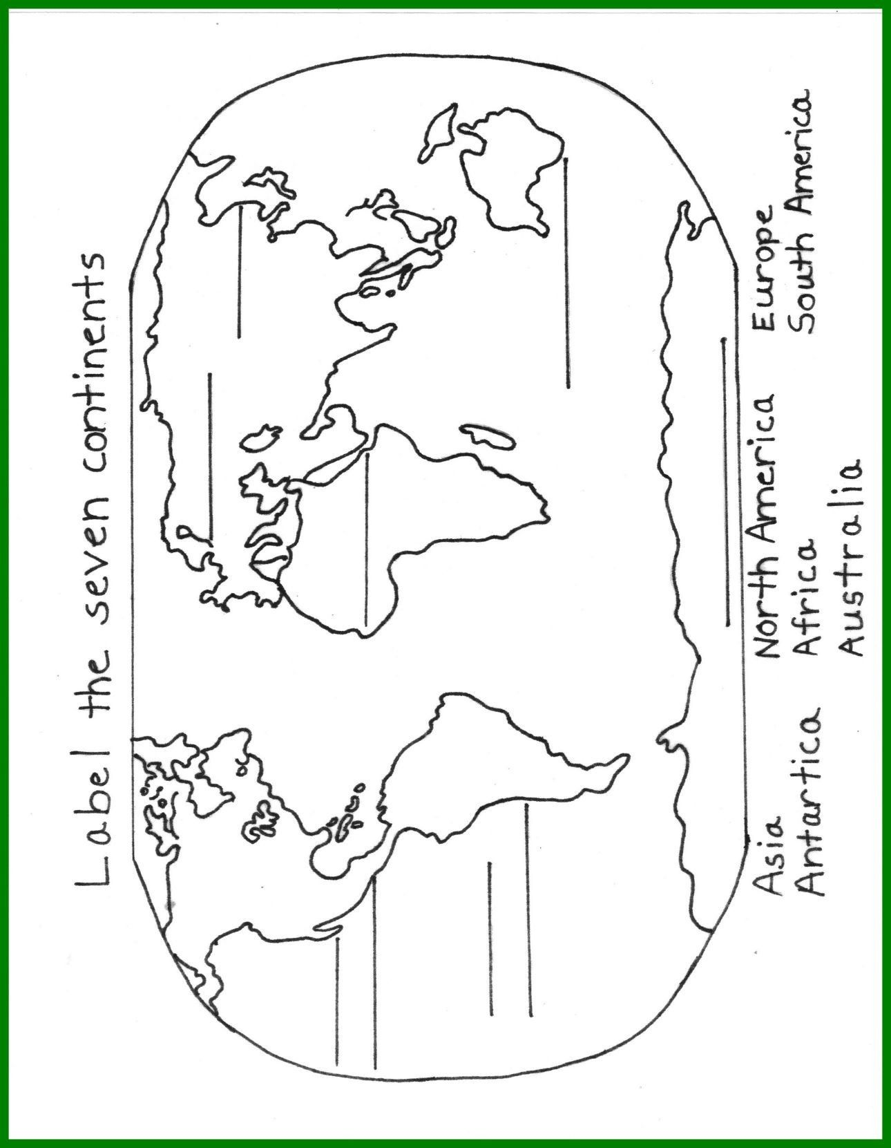 Continents Coloring Page 7 Continents Coloring Page Wiim