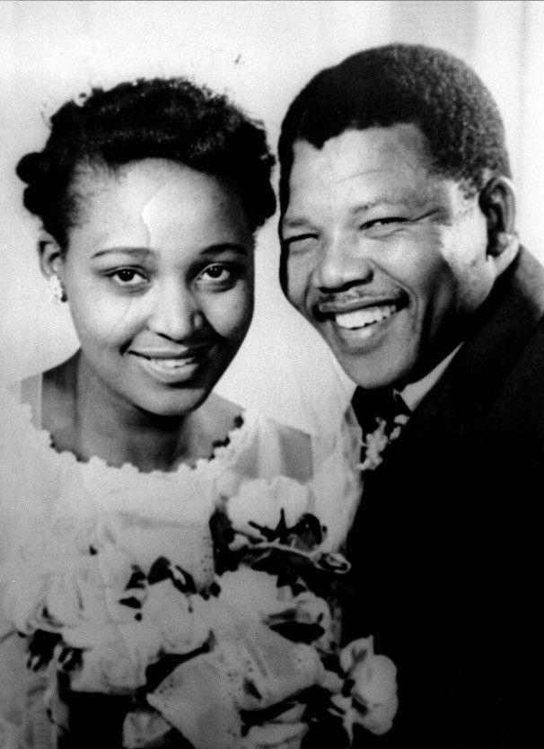 Nelson RIP And Winnie Mandela On Their Wedding Day 1958 They Divorced