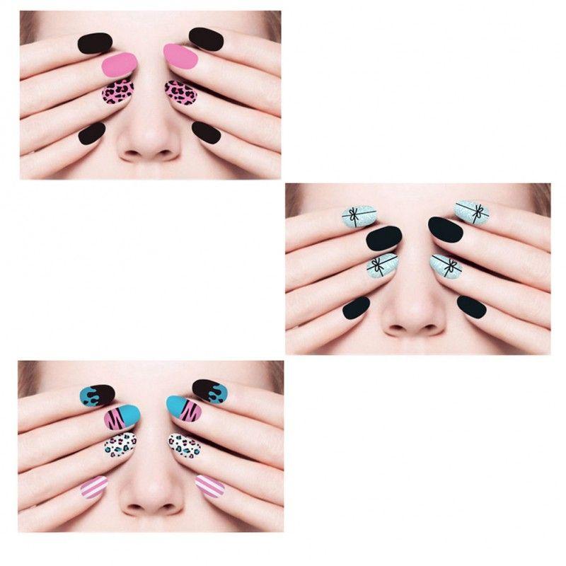 6 Sheet]Nail Art Sticker Nail Decal Full Nail Wrap Nail Art Tattoo ...