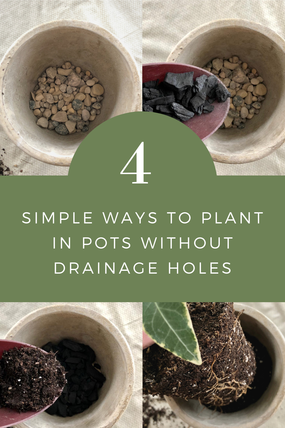 How to Plant in Pots Without Drainage Holes 4 Simple