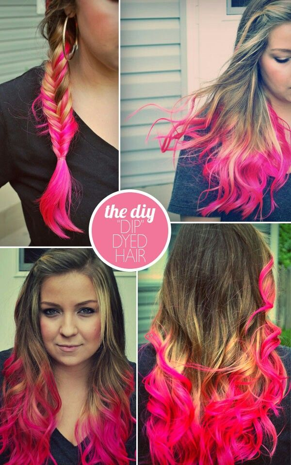 Dip dyed pastel colored hair temporary color or dyed extensions hair coloring solutioingenieria Gallery
