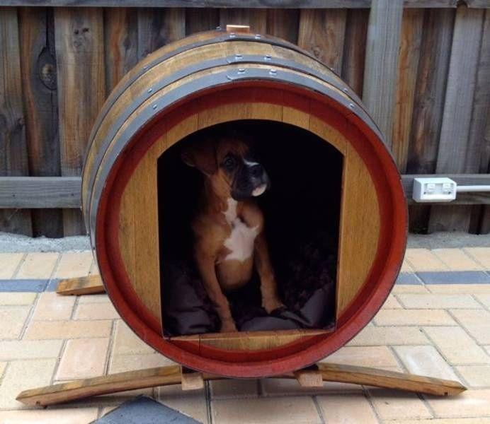 C mo hacer una casa para perro de exterior casetas divinas pinterest - Como hacer una casita para perros ...