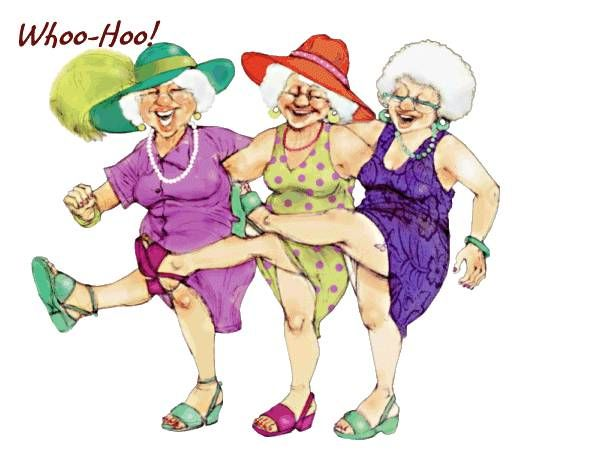 Image result for old ladies at lunch cartoon