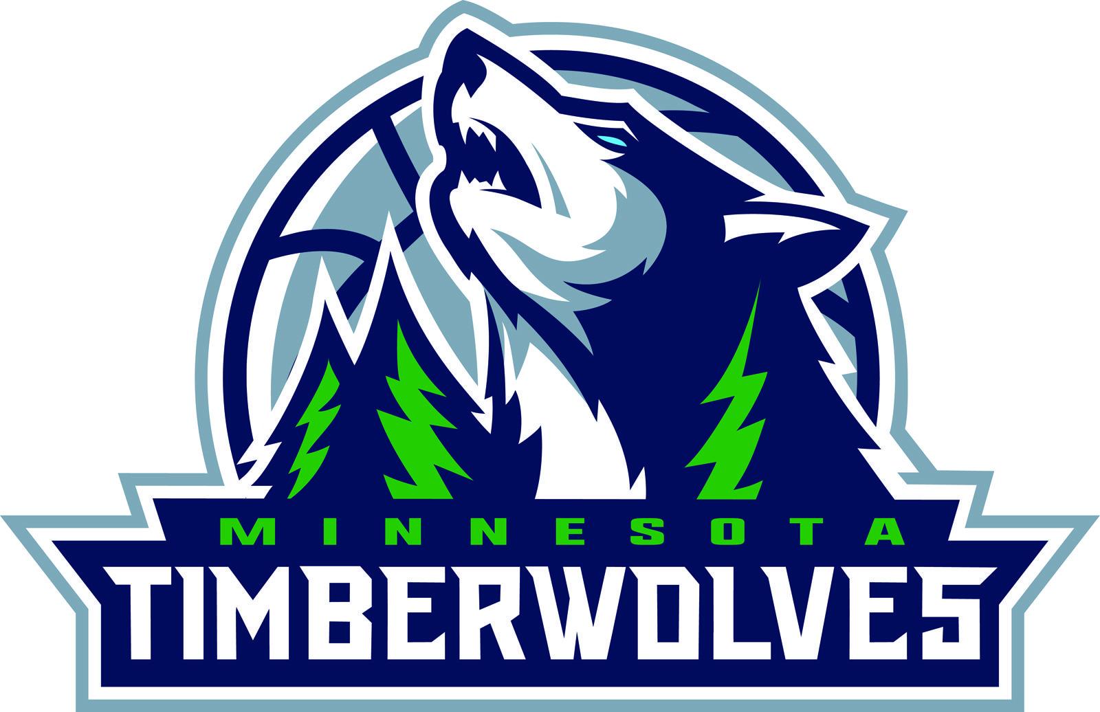 Color Timberwolves Logo Sports Logo Design Minnesota Timberwolves Sports Logo