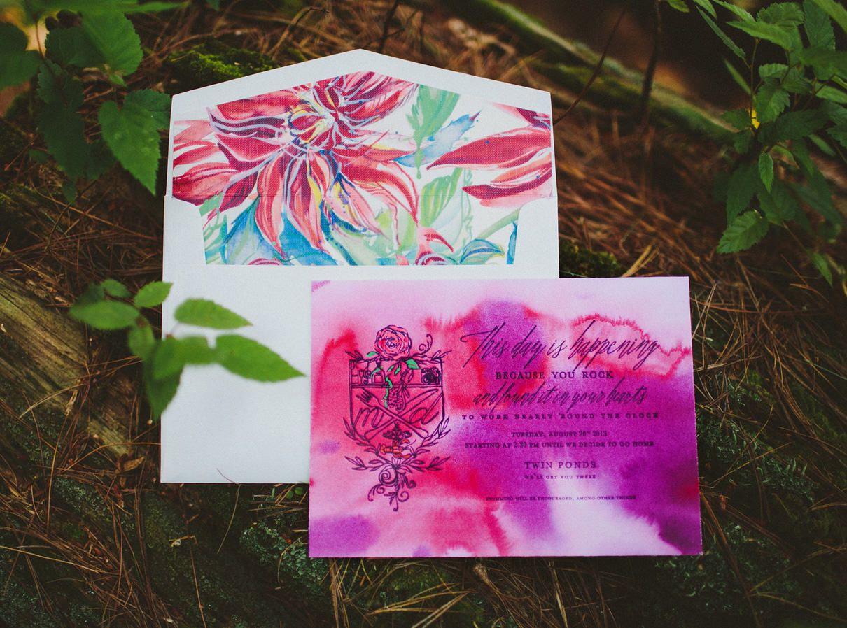 Modern Watercolor Wedding Invitations   Pinterest   Wedding