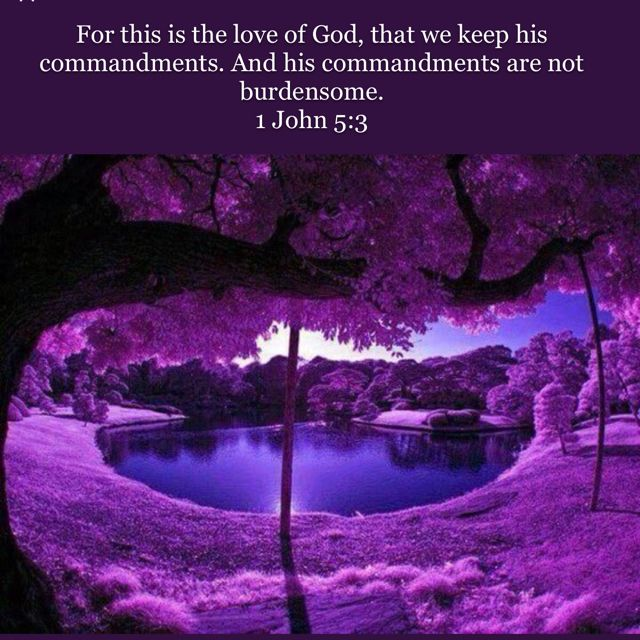 1 John 5:3 For this is the love of God, that we keep his commandments. And his commandments are not burdensome. | English Standard Version 2016 (ESV) | Download The Bible App Now