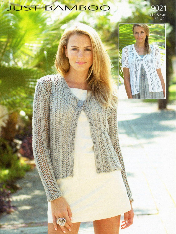 Womens cardigan knitting pattern pdf ladies lacy jacket ...