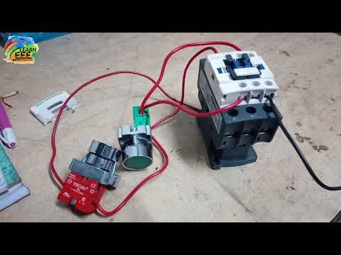 Practically Contactor Connection With No And Nc Switches In Hindi Youtube Electricidad Y Electronica Proyectos Electricos Instalacion Electrica