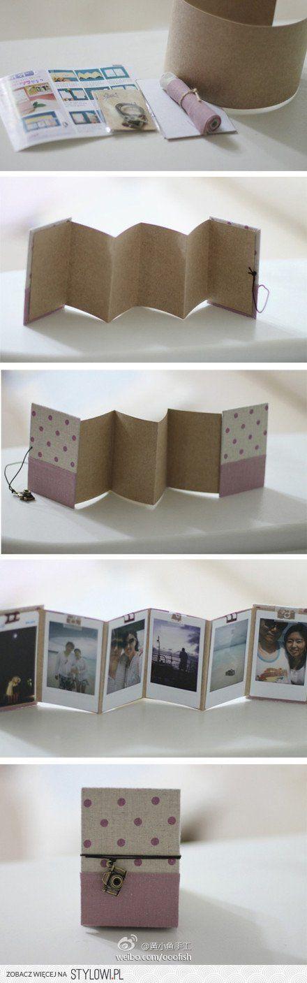 Bonito mini-álbum para hacer con fotos de tu Fuji Instant o Polaroid.