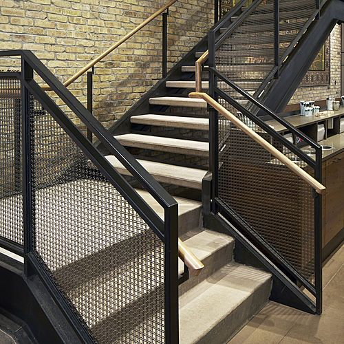 Best Log Railing Stairs Design Staircase Design Industrial 400 x 300