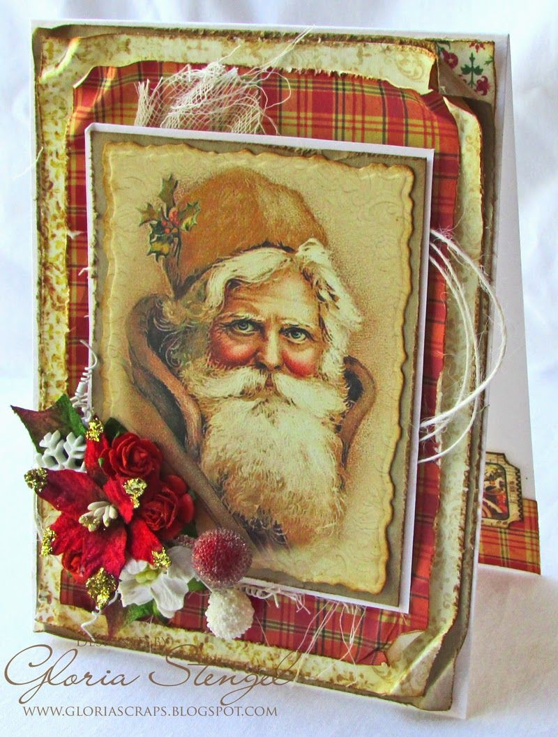 Scraps of Life: Crafty Secrets Vintage Santa