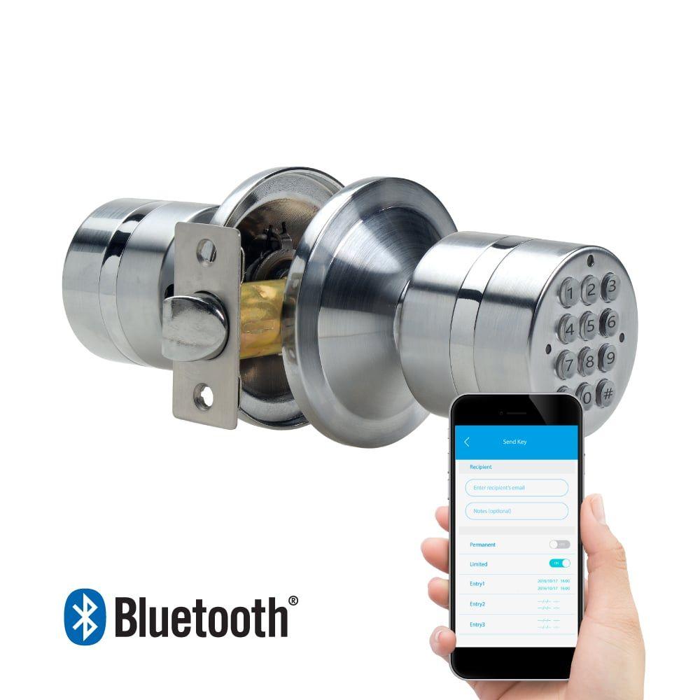 Turbolock Weatherproof Electronic Smart Bluetooth Keyless Door Lock With App Live Monitoring And Keyless Entry Keypad Door Locks Smart Door Locks Keyless Door Lock