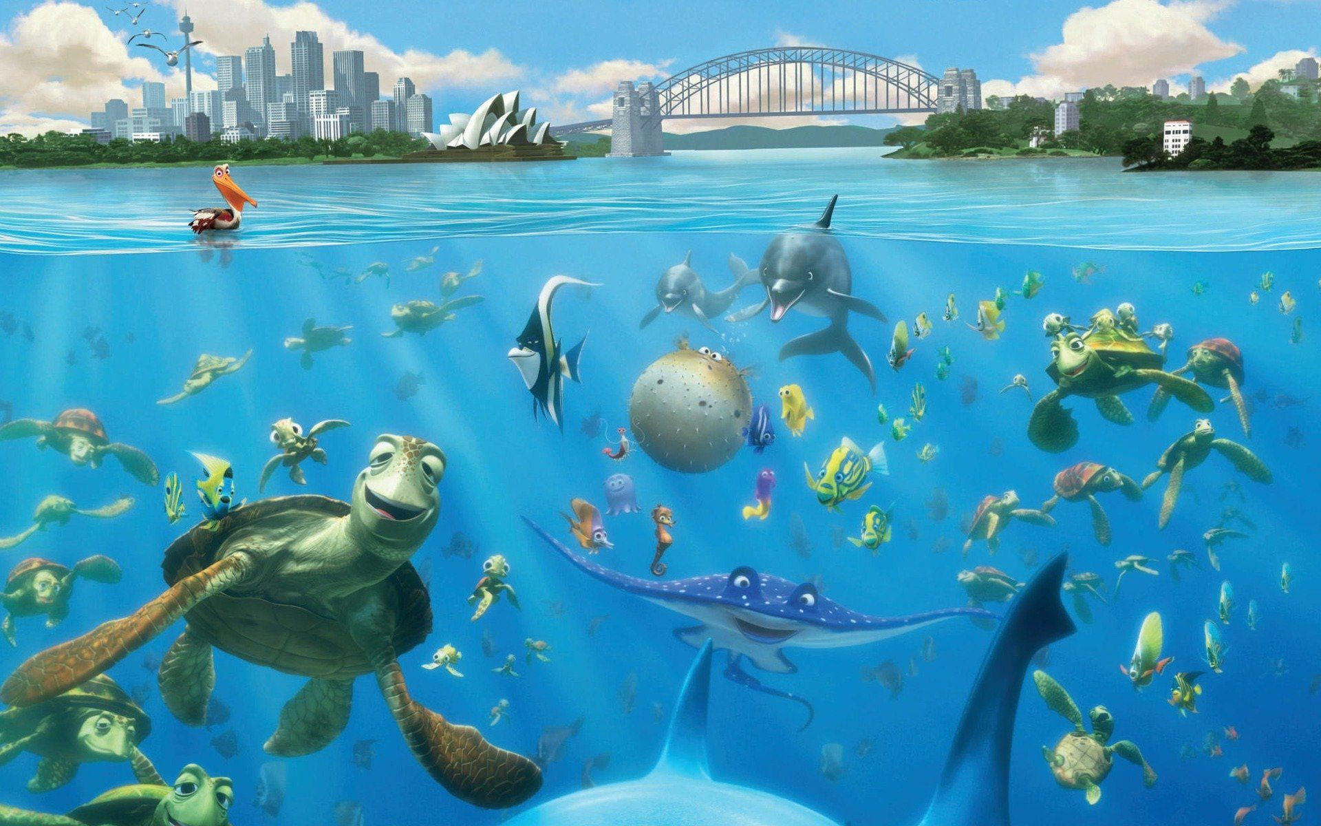 FINDING NEMO animation underwater sea ocean tropical fish ...