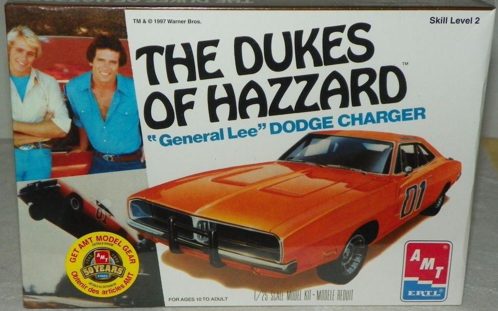 The Dukes Of Hazzard General Lee Dodge Charger Model Kit Amt Ertl New Sealed Dodge Charger Models Dodge Charger Ertl