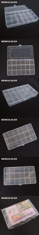 Plastic Toolbox Transparent Electronic Component Storage Box Casket