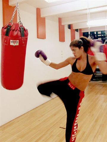 Kick boxing. Always wanted to try it... heard the muffin tops melt right off... Love This!