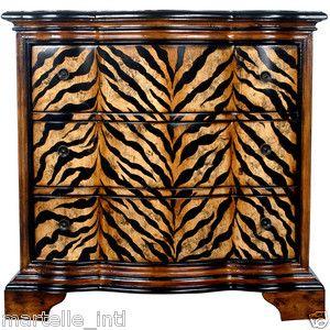 Zebra Tiger Chest of Drawers