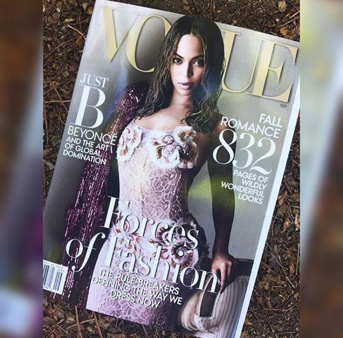 First Black Woman grace the September cover of Vogue magazine! All hail #QueenBey