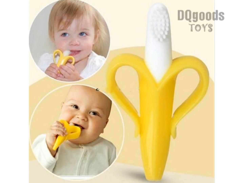 Baby Silicone Training Toothbrush BPA Free Banana Shape
