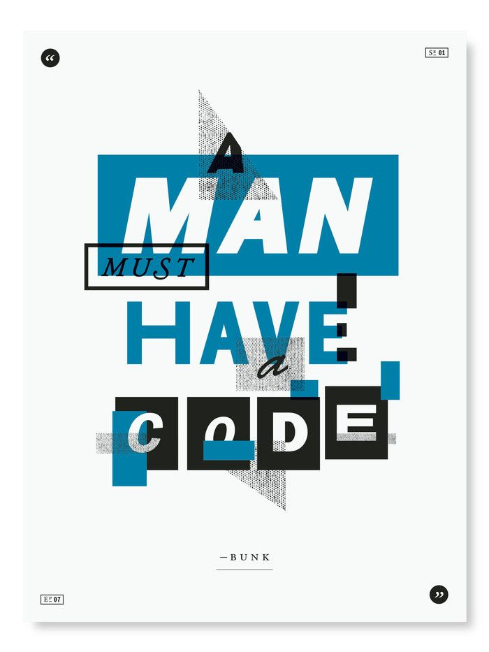 The Wire Poster Project : love this type! | Letters + numbers ...