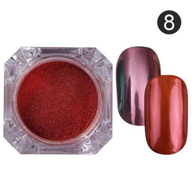 BORN PRETTY Mirror Nail Glitter Pigment Powder 1g Maroon | Products ...