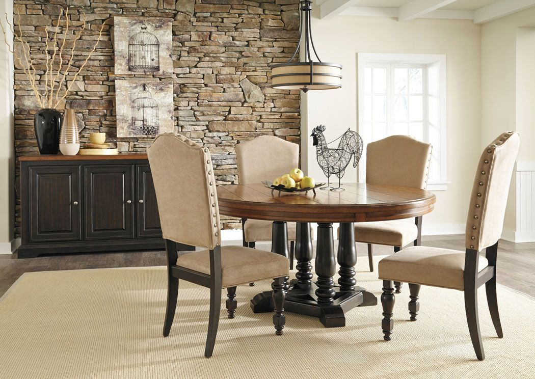 Round Table La Habra.Shardinelle Round Dining Table W 4 Side Chairs Server Home
