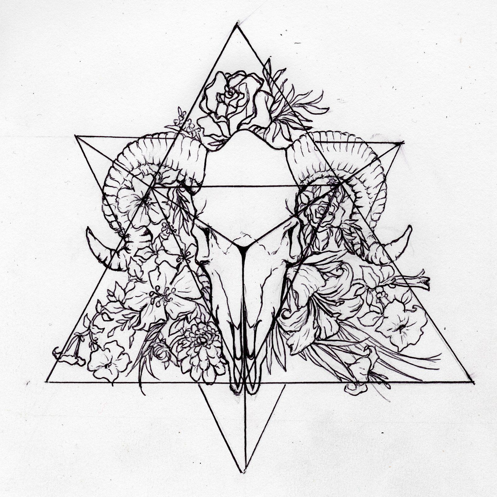Tattoo Ideas Sketches: Tetrahedron (Personal Tattoo Design) By Morgan96k