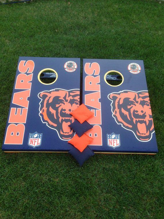 Peachy Chicago Bears Bean Bag Boards Custom Cornhole By Alphanode Cool Chair Designs And Ideas Alphanodeonline