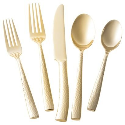 obsessed with this gold flatware from @Target Style