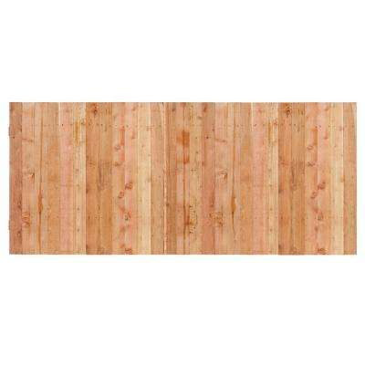 3-1/2 ft x 8 ft Western Red Cedar Privacy Flat Top Fence Panel Kit