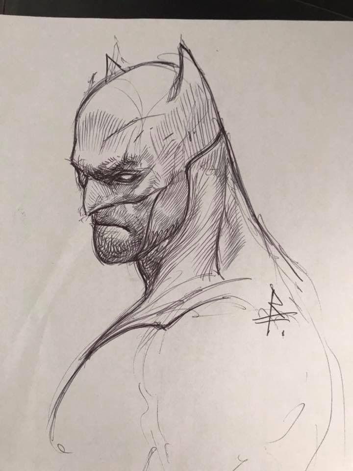 batman profile sketch artrandom pinterest batman sketches and profile
