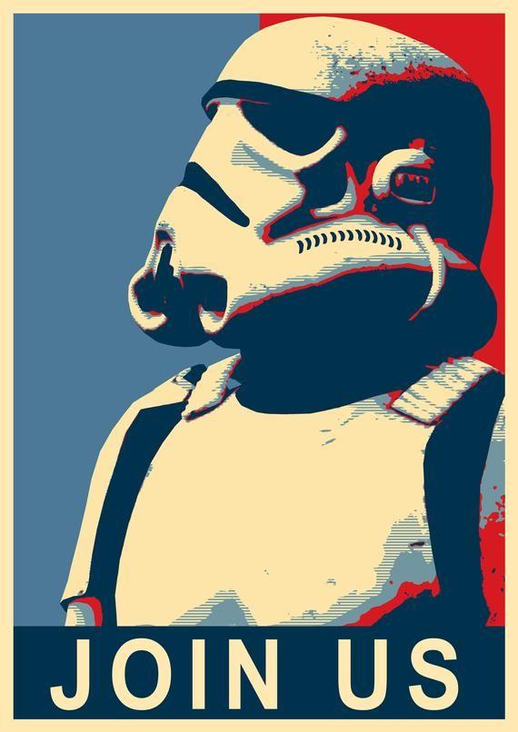 stormtrooper cadeau / cadeau geek / star wars déco / starwars poster / stormtrooper deco / star wars poster art / star wars déco enfant