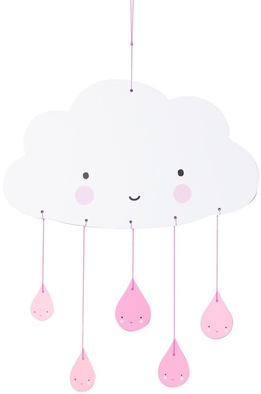A Little Lovely Company Mobile Wolke Rosa