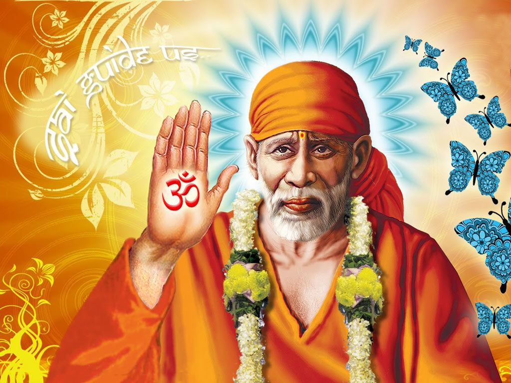 Download Sai Baba Latest Wallpapers Gallery: Om Sai Baba Wallpaper Download