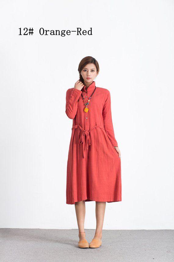fbec78b31d4 Women s linen cotton maxi dress oversize loose caftan bridesmaid dress  large size dress plus size cl