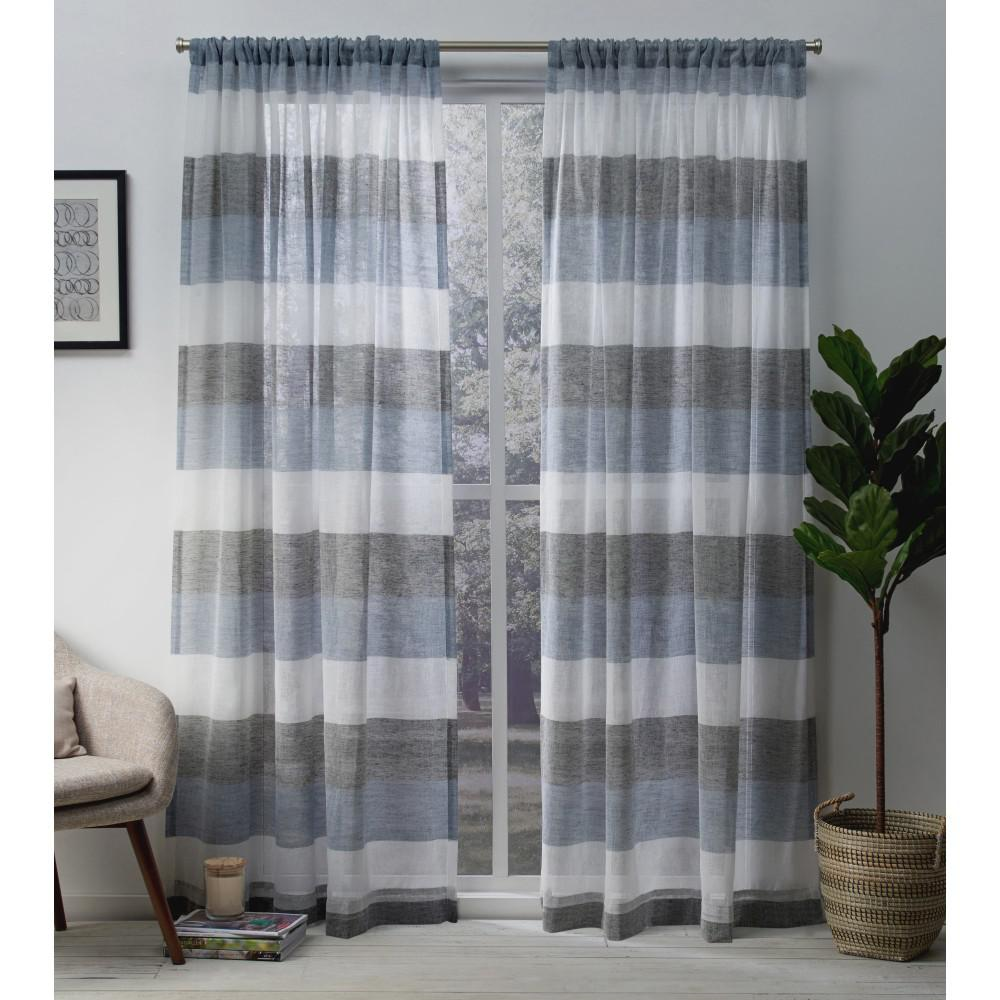 Amalgamated Textiles Bern 54 In W X 96 In L Sheer Rod Pocket Top
