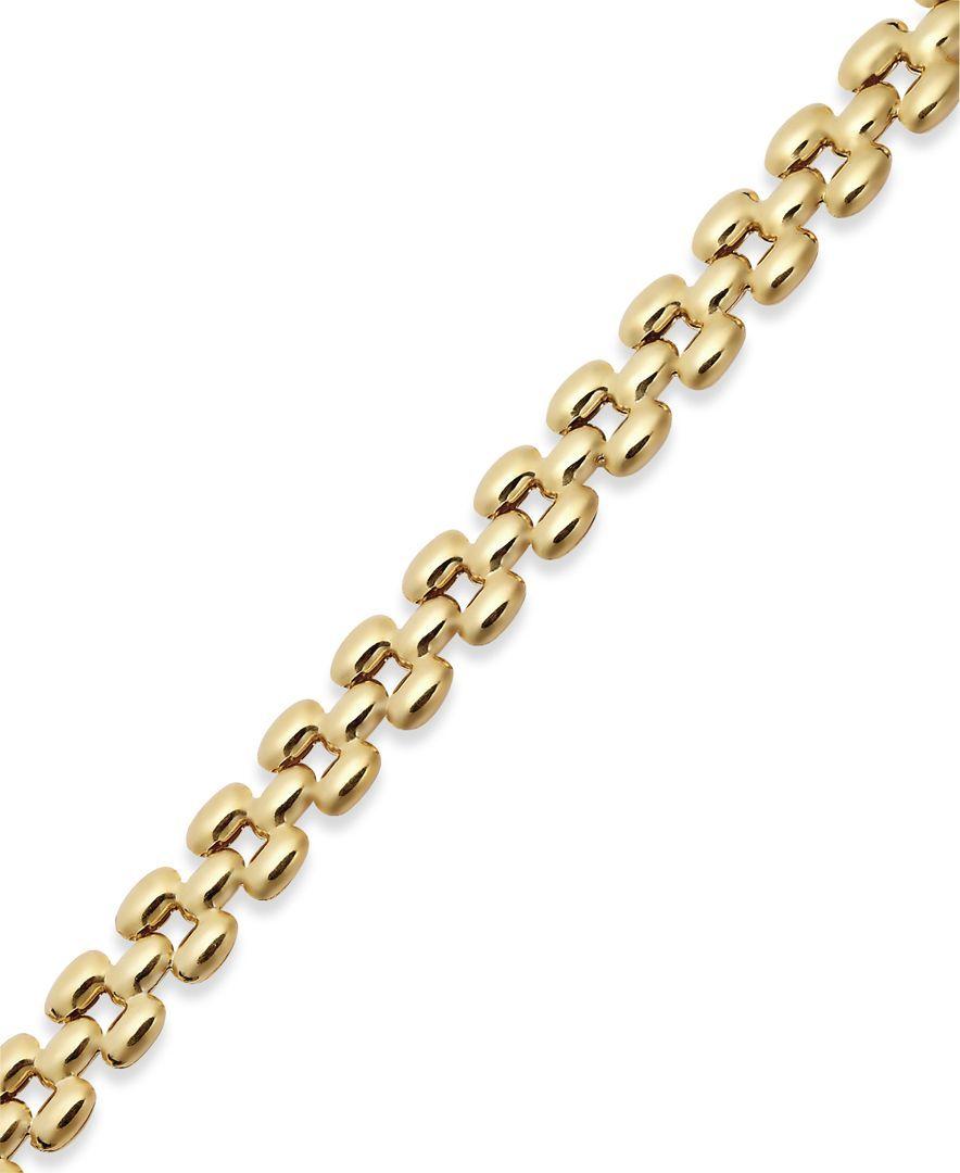 Giani bernini k gold over sterling silver polished link bracelet