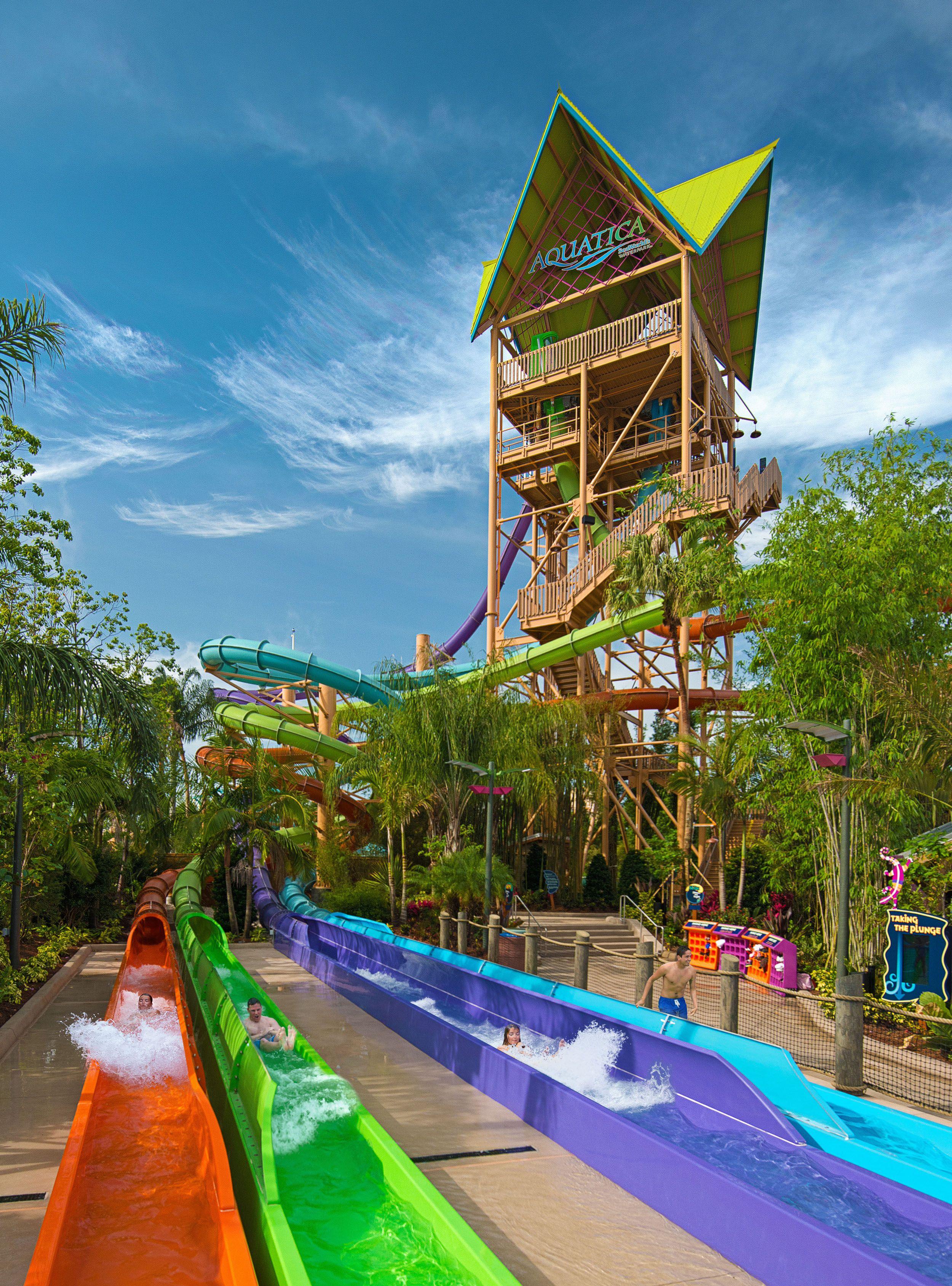 Ihu's Breakaway Falls Aquatica Orlando