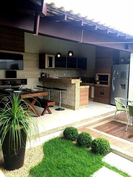 Edicula com churrasqueira 2 rea externa pinterest for Modelos de terrazas rusticas
