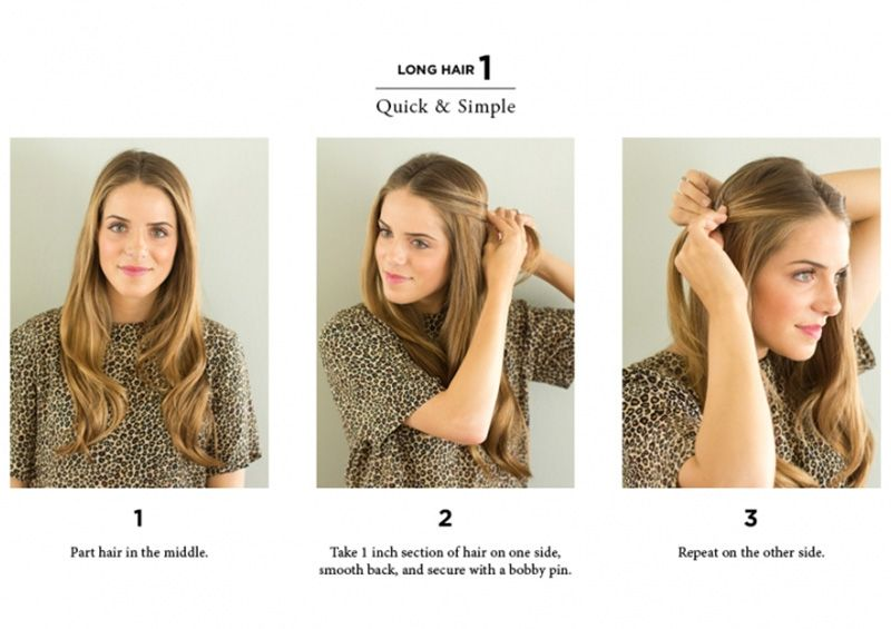 10 Easy Ways To Style Hair The Everygirl Long Hair Styles Long To Short Hair Hair Styles