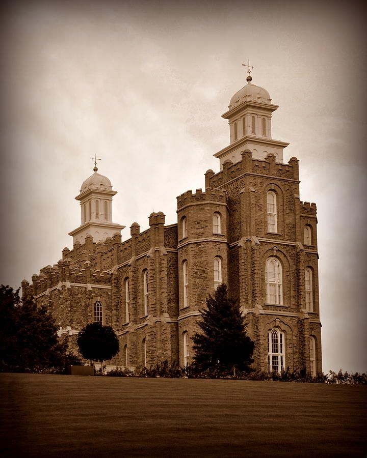 Lds temple logan utah sepia by nathan abbott lds temples
