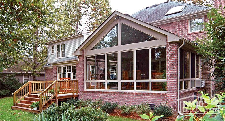 Sandstone Aluminum Frame Four Season Room With Gable Roof Sunroom Exterior Photos Learn More