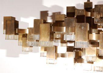 COM   Lizu0027s Antique Hardware   Gaetano Sciolari Lightolier   Outstanding Sciolari  Cubic Fixture