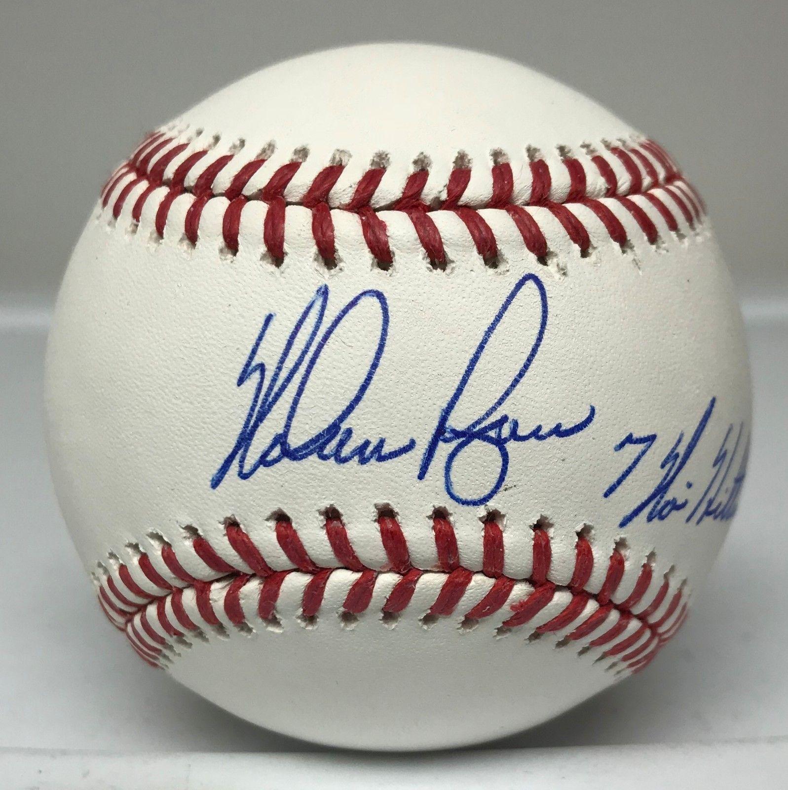Nolan Ryan 7 No Hitters Signed Baseball Autographed Auto W Hologram Mets Hof Baseball Autographed Baseballs Nolan Ryan Baseball Memorabilia