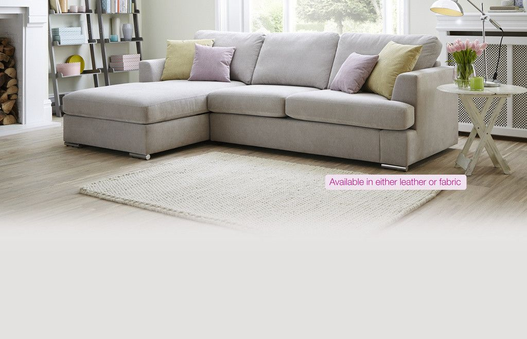 Freya 4 Seater Lounger Leather Corner Sofa Snug Room Deluxe Sofas