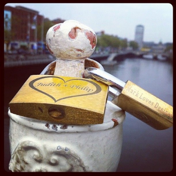 "myfashiondays via Instagram  ""Lock love and throw the key forever #dublin #ireland"""